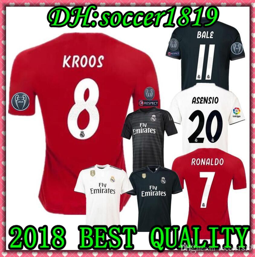 067eb5c88 2019 Real Madrid Soccer Jersey Asensio SERGIO MODRIC Ronaldo MARCELO ...
