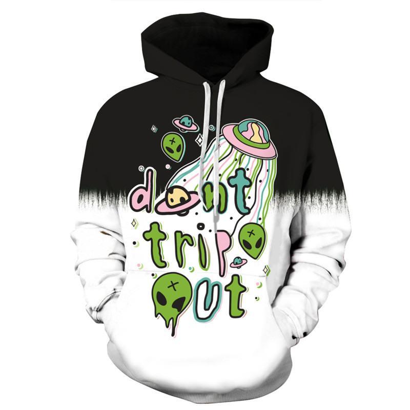 5c9b5c36dd33 2019 2018 Galaxy Hoodies Men Women Hooded Hoodies Alien Print Anime Cartoon  3D Sweatshirts Spring Tops Hip Hop Pullovers Sportswear From Xiayuhe