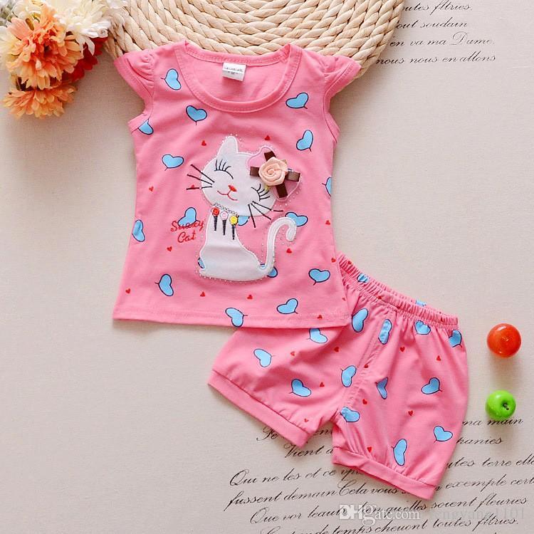 3910de095 2019 Infant Clothes Toddler Children Summer Baby Girls Clothing Sets ...