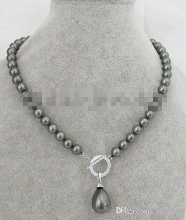 Solo blanco oro rosa perla flotante collar de perlas 9mm 1 collar de ...