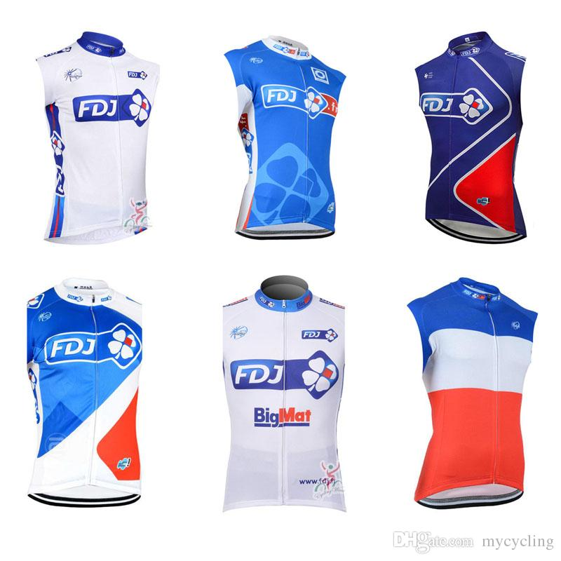 87f27f737 2018 Men Summer FDJ Team Bike Jerseys Cycling Vest Summer Quick Dry Cycling  Clothes Sleeveless Road Bicycle Tops Mtb Sportswear C2802 Bib Shorts Cycling  ...