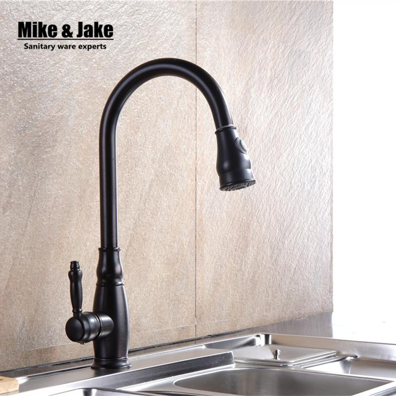 2019 Luxury Black Pull Down Kitchen Faucet Wholesale New Arrival