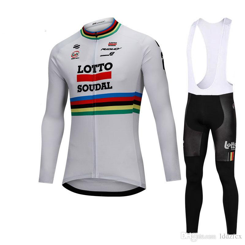 2018 New Long Sleeve LOTTO Cycling Jersey Tour De France Spring And ... e95bb2036