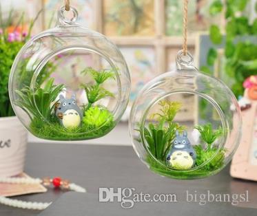 6 8 10cm Diy Hanging Round Glass Air Plant Terrariums Balls Flower
