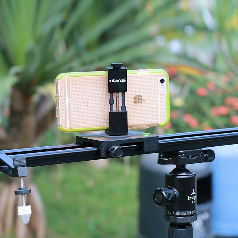 on sale 405d6 d3a82 ulanz Smartphone Tripod Mount - Ulanzi IRON MAN Aluminum Metal Universal  Smart Phone Tripod Adapter Holder Clip for iPhone 8
