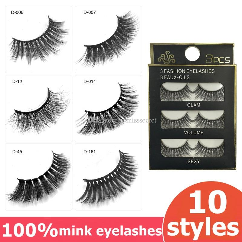 10 Styles 3d Mink Lashes 100 Thick Real Mink False Eyelashes