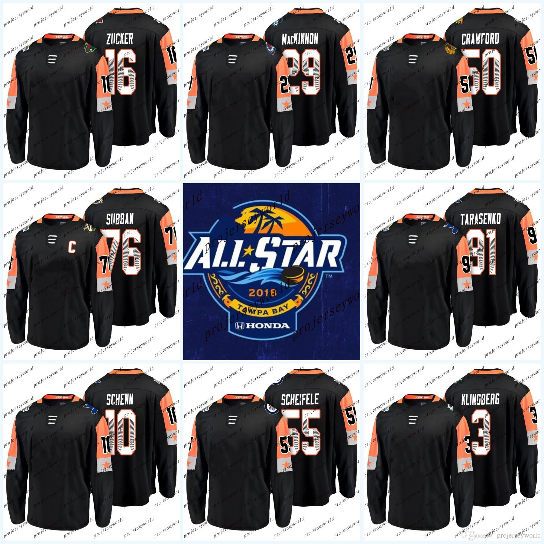 brand new 9fe47 ca868 Youth 2018 All-Star Game Jersey Corey Crawford Jason Zucker Vladimir P.K.  Subban Tarasenko Nathan MacKinnon Central Division Hockey Jerseys