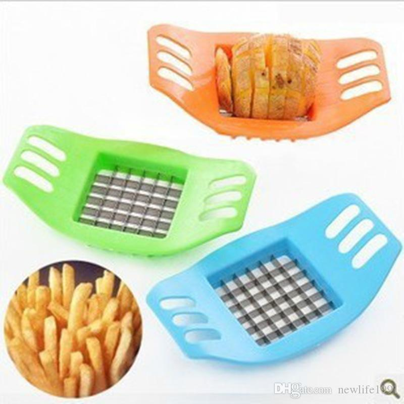 Creative French fries Maker Kitchen Supplies Multi-function Chopper Stainless Steel Manual Chopper Potato Slice Cucumber Cutter