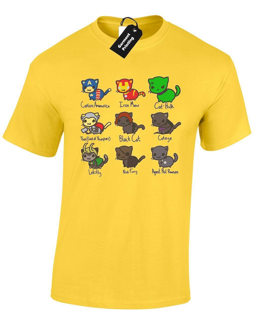268d0e1fa6d CAT AVENGERS UNISEX T SHIRT SUPERHERO CAPTAIN KITTY AMERICA CUTE KITTEN TOP  Cartoon T Shirt Men Unisex New Be Awesome T Shirt Print On Tee Shirt From  ...