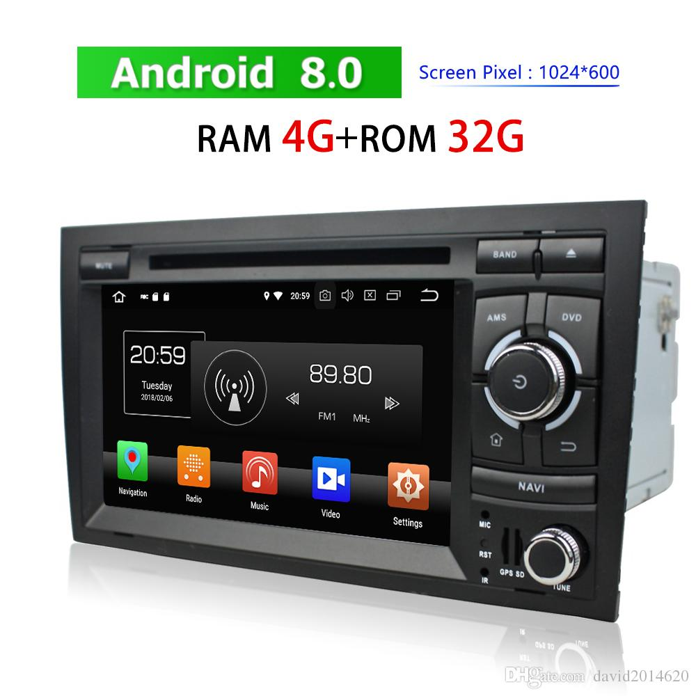 Touch Screen Car DVD Player for Audi A4 2002~2008 Android Auto Stereo 2 Din  Bluetooth Radio GPS Navigation BT WIFI 3G 4G TV