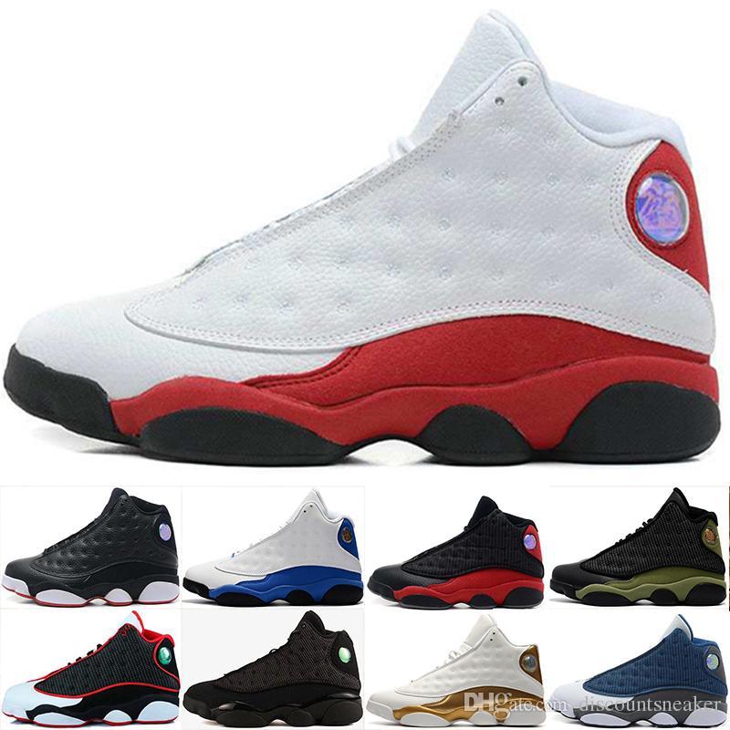 76b846957e6f67 2018 13 13s DMP Black Cat Basketball Shoes Mens Sneakers Hyper Royal ...