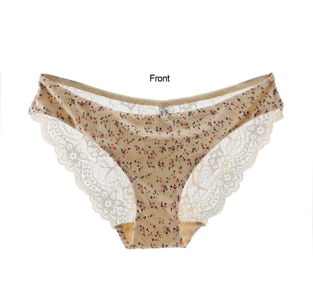 Hot Sale Print Woman Panties Lace Transparent Seamless Panties Sexy Briefs Female Underwear Women Lingerie Intimates Plus Size