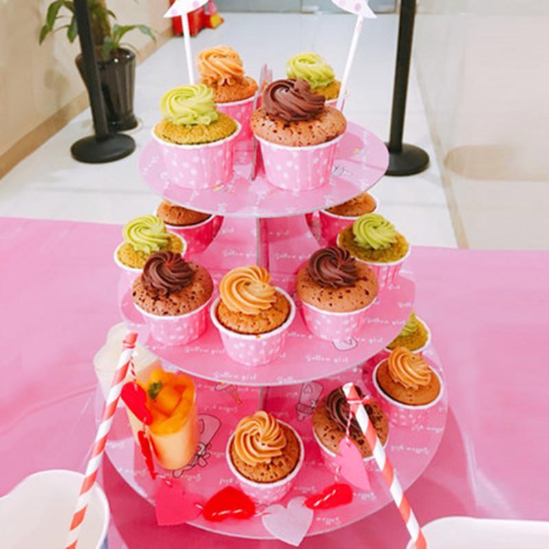 Grosshandel Grosshandels Grosshandel 3 Tier Papier Cupcake Kuchen