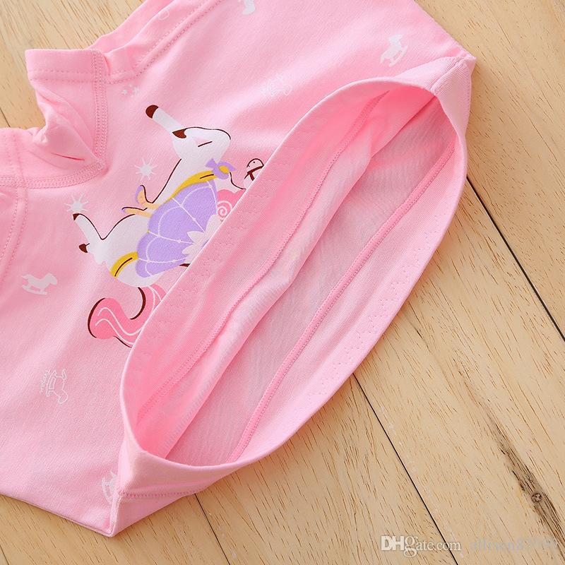 Maternidad Niños Horse Girl ropa interior Cajas Bragas Sweet Princess Girl shorts Algodón Regenerado fibra 2018