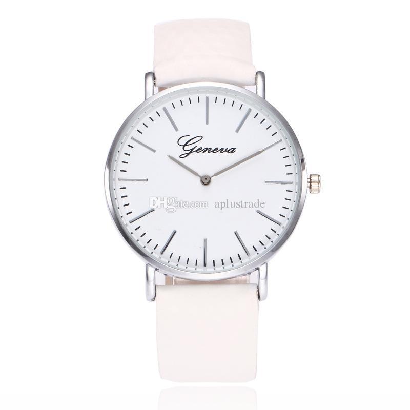 Magic Women Geneva Thermochromic cambio de temperatura color reloj de cuero reloj Simple Ladies Casual muñeca reloj de cuarzo