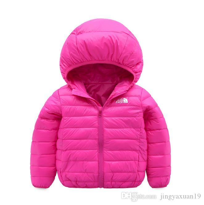 a20bbf3ee face north Baby children s coat best selling new boy s cotton dress girl s  pure color hat and light cotton padded jacket -002-2