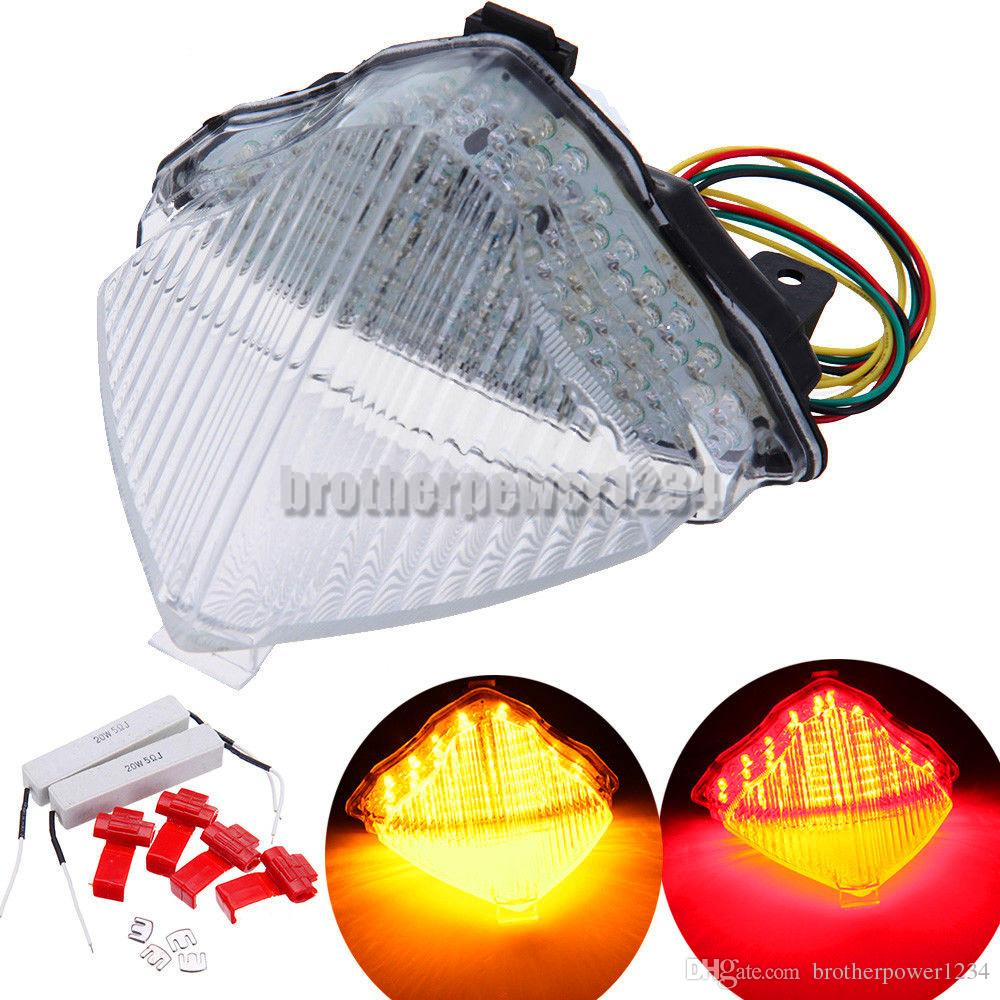 Motorcycle LED Rear Brake Stop Turn Signals Tail Light For Yamaha YZF R1 2004-2006