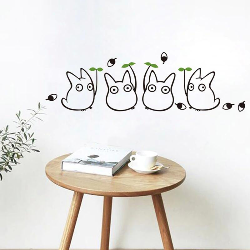 new cartoon animation vinyl totoro wall decals for children's room