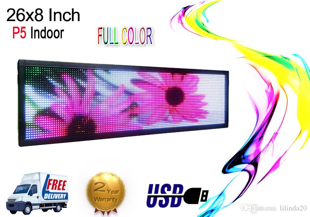 26 x8 indoor full color LED Sign Programmable Scrolling Message Display  Board