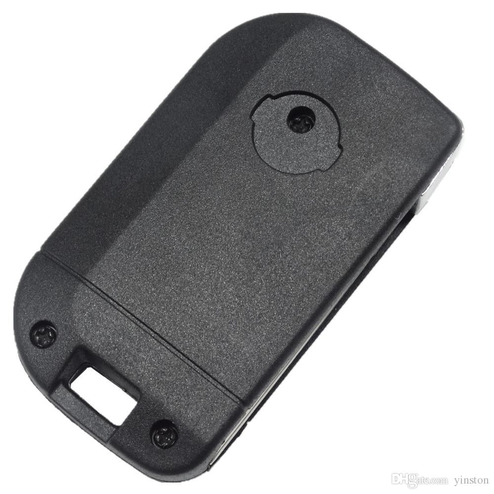 High Quality New Nissan 2 Button Replacement Flip Case for Nissan Remote Key Blank Shell Fob Cover