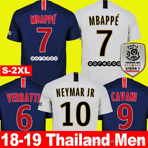 TOP AAA PSG Paris Saint Germain MBAPPE Men Soccer Jersey 2018 2019 ... cdb2990e6