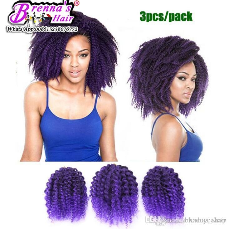 3PCS Stunning Short 8inch jerry curly Shaggy Afro Curly weaves hair Extension Naptural Mali Bob 3pcs ombre Braiding bundles for black women