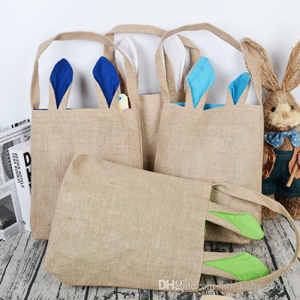 Burlap easter basket with bunny ears bunny ears basket cute easter burlap easter basket with bunny ears bunny ears basket cute easter gift bag rabbit ears put easter eggs dhl free easter bunny bag easter cotton bag easter negle Image collections