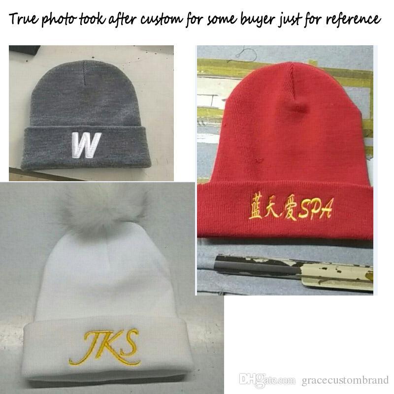 Ücretsiz logo nakış normalde yetişkin boyutu kafatası kapaklar özel şeker renk şapka kış kasketleri rahat sıcak bere kalça sıcak örgü şapka 10 adet