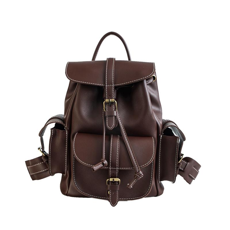 c91fe98ad5 New Women Leather Backpack Black Bolsas Mochila Feminina Large School  Backpacks For Teenage Girls Lady Travel Bag Leather Backpack Laptop Backpack  From ...