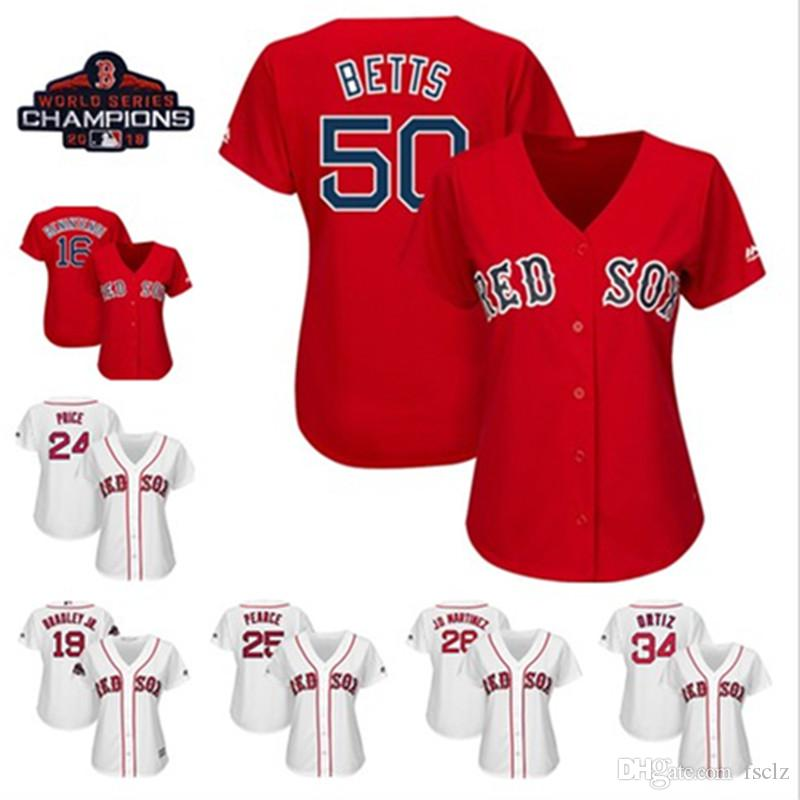2019 Womens Custom Boston Red Sox 2018 World Series Champions Patch Mookie  Betts Andrew Benintendi Nathan Eovaldi J.D. Martinez Baseball Jersey From  Fsclz ee6d91fce58