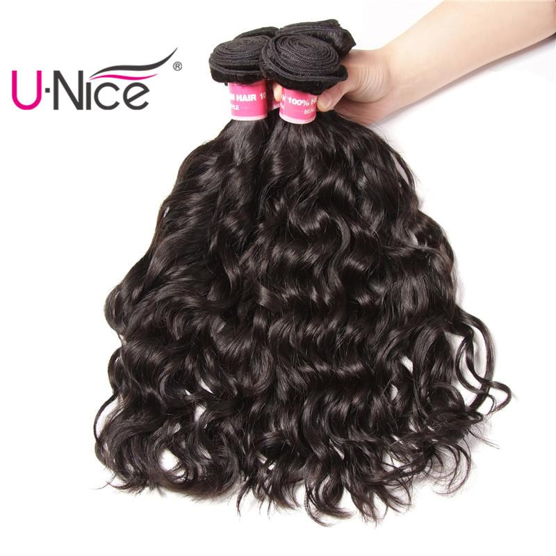 UNice Hair Brazilian Natural Wave 3 Bundles Mix Length 8-26inch Hair Weaving 100% Human Hair Extensions Unprocessed Wholesale Weaves