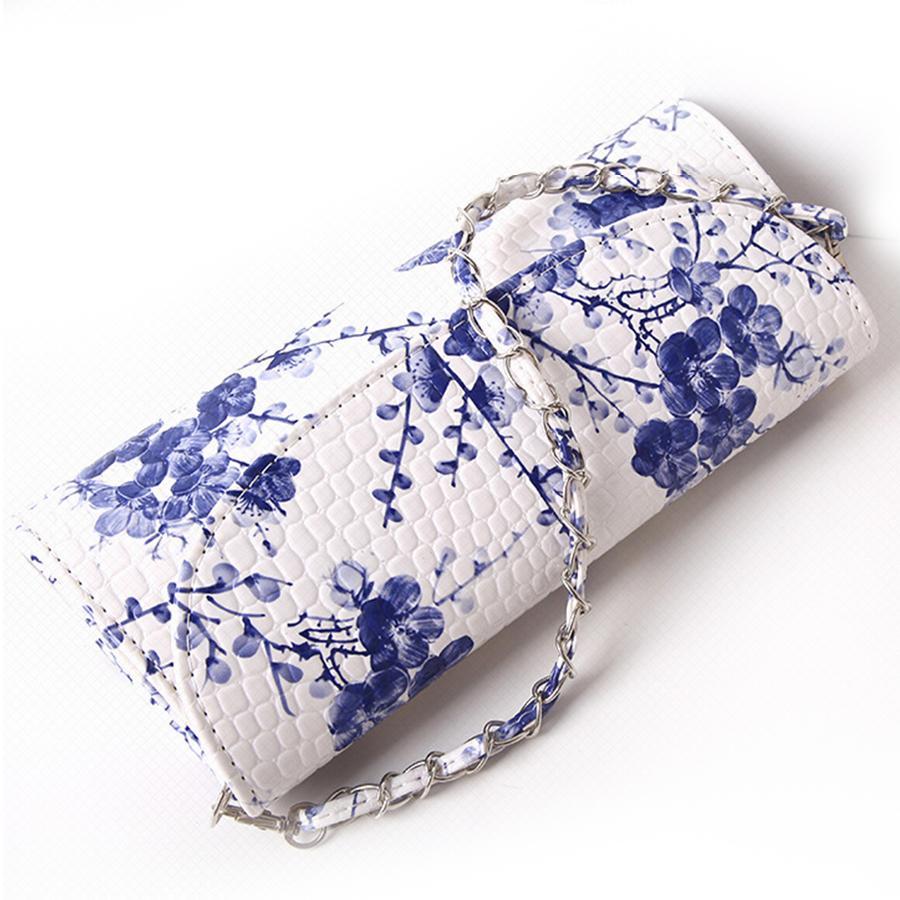 Chine Style Fleur Imprimer Sacs À Main Femmes Embrayages Sacs Haute Qualité En Cuir PU Sacs À Bandoulière Rétro Encre Peinture Dames Jour Embrayages