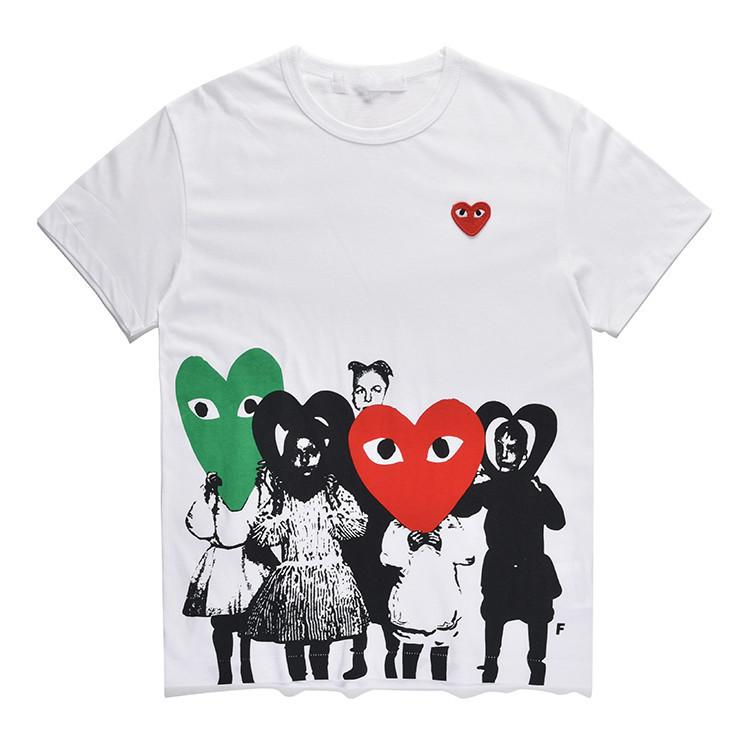 48e60d8b9e85 2019 Women Clothes COMMES PLAY Japanese Heart Emoji DES GARCONS Tshirts OFF  Short Sleeved T Shirt Men Women Cotton White CDG Vetements Clothings From  ...