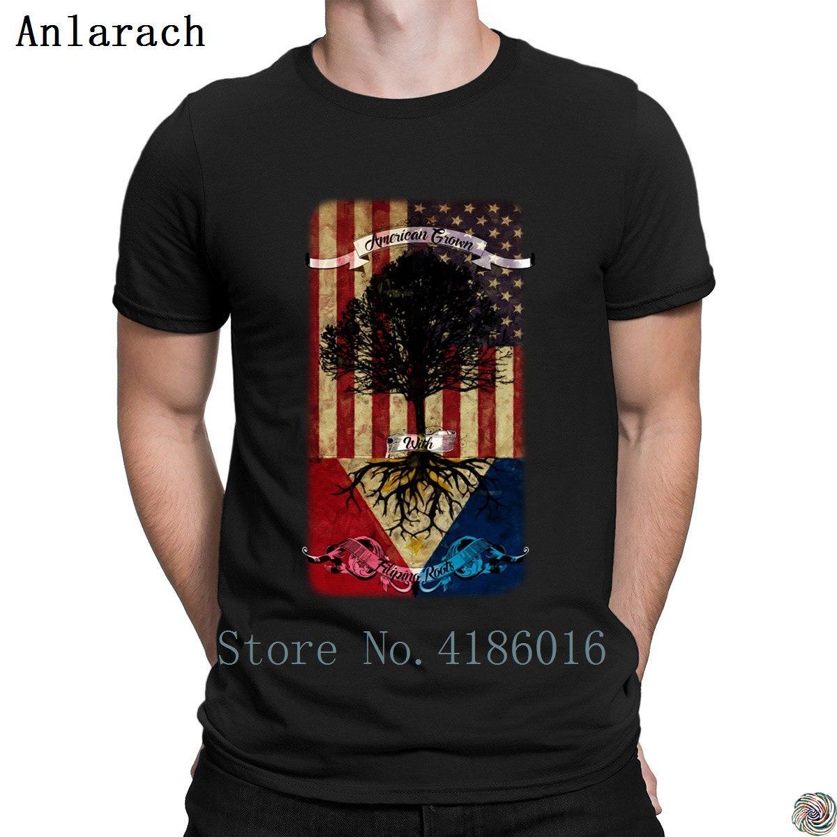 Compre Americano Crescido Com T Shirt Raízes Filipinas Superior Camiseta  Authentic Original T Para Homens 100% Roupas De Algodão Verão Slim Fit De  ... 8beab01cea62f
