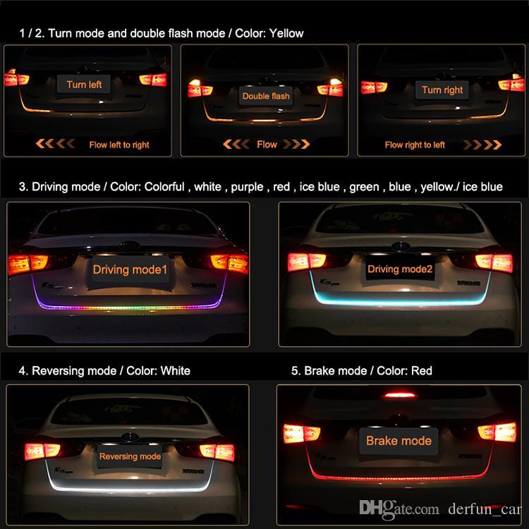2018 car led strip lighting rear trunk tail light dynamic streamer car led strip lighting rear trunk tail lightg aloadofball Images