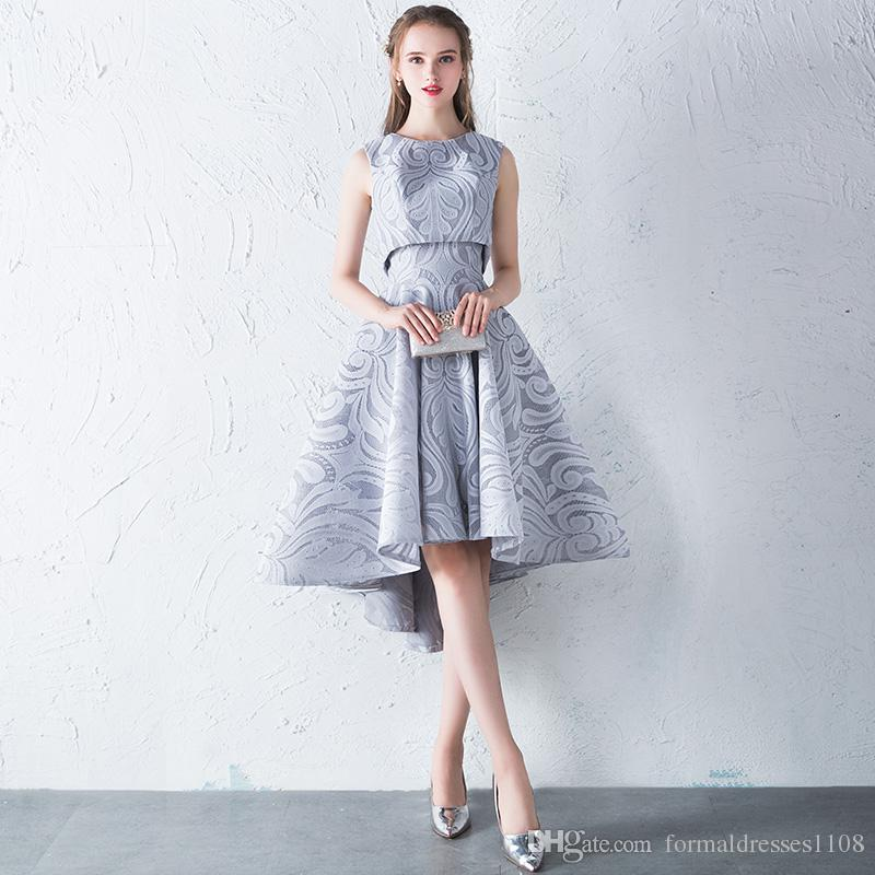 Two Piece Hi Low Short Front Long Back Homecoming Dresses Short Prom ...