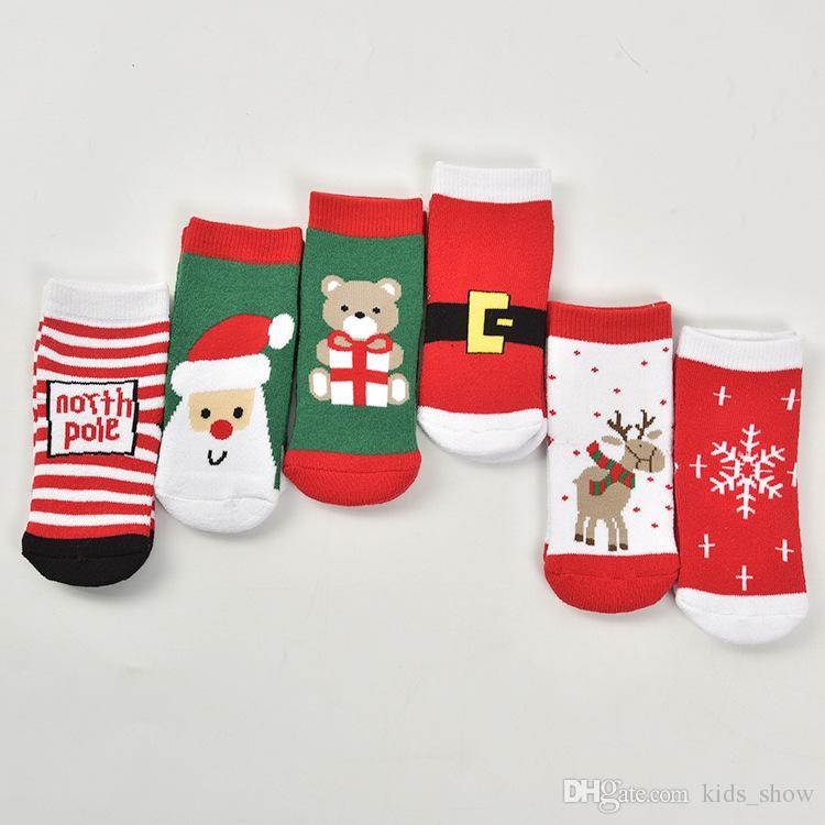 Christmas Socks For Kids Boys Girls Childrens Autumn Winter Cotton ...