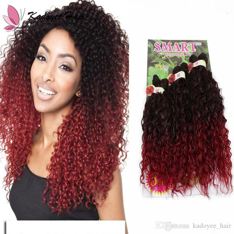 Freetress SMART jerry curl synthetic crochet marley jumbo braids twist hair bundles 6pcs lot ombre color available with free shipping