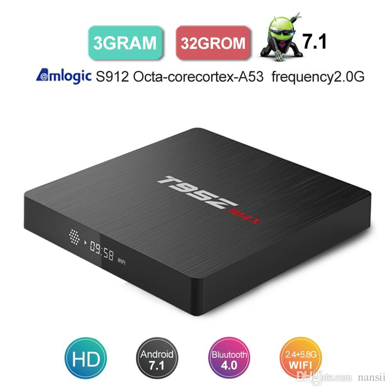 T95Z Max Amlogic S912 Android 7.1 TV BOX 3G 32G OctaCore Smart Set Top Box BT4.0 Media Player