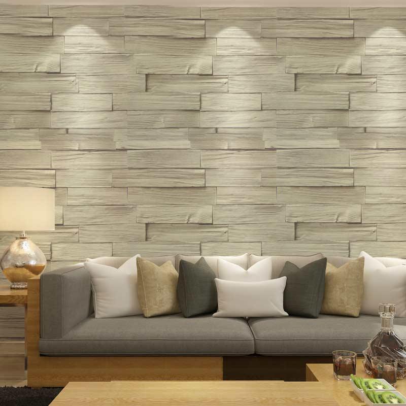 Acheter Style Chinois Imitation Bois Brique Vinyle Papier Peint Papier Peint  3D PVC Lavable En Relief Cuisine Salon Décoration Murale Décor De $57.96 Du  ...