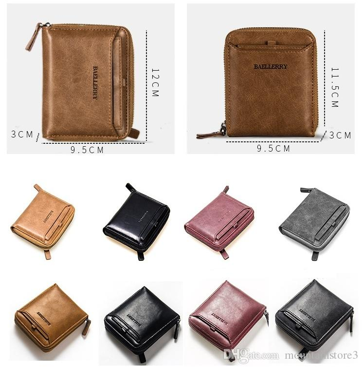 51f81de2898a New Wallet Short Men Wallets PU Leather Male Purse Card Holder Wallet  Fashion Man Zipper Wallet Men Coin Bag Front Pocket Wallets Luxury Wallets  From ...