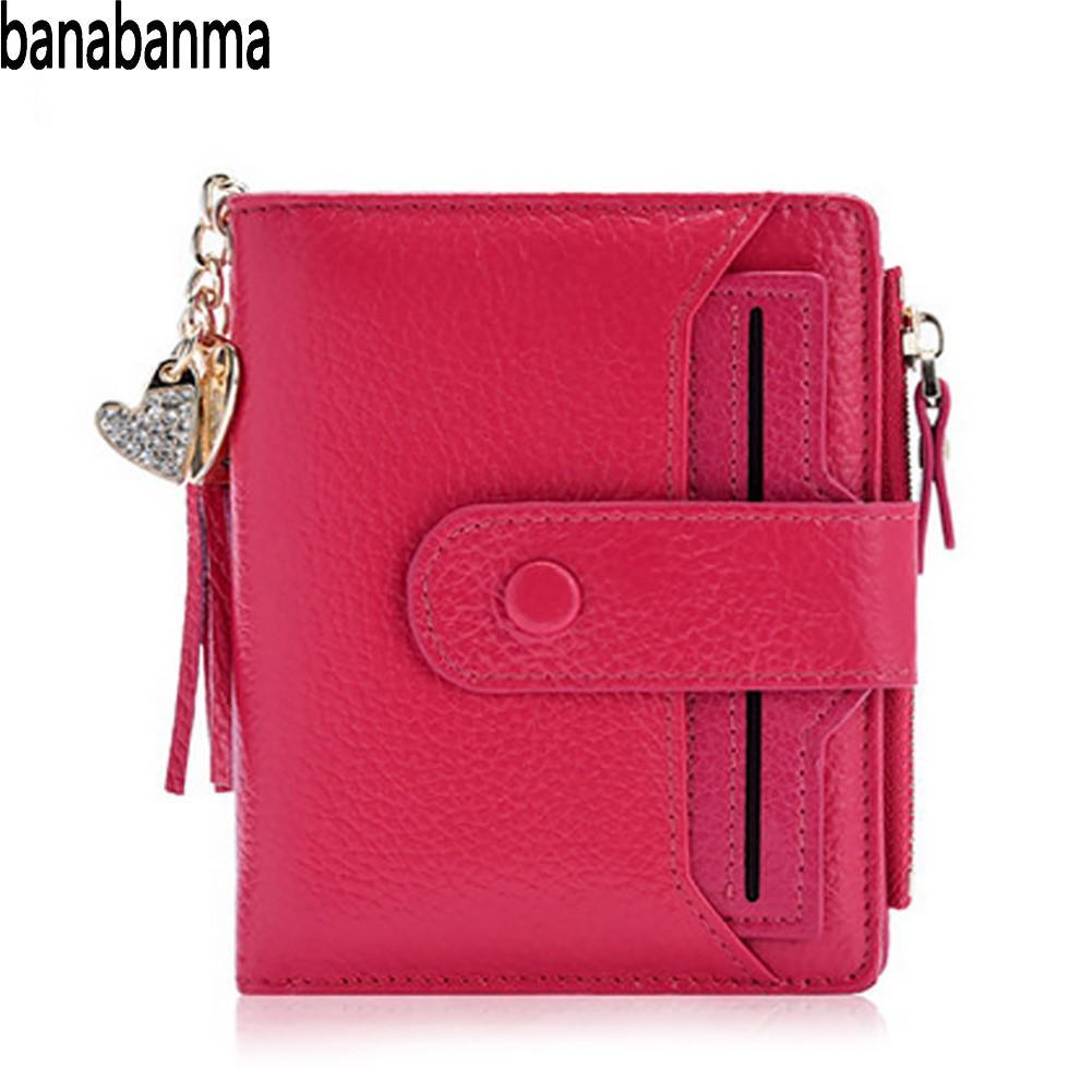 Banabanma Women S Purse Mini Genuine Leather Bifold Wallet With ID Window  Card Sleeve Anti RFID Clutch Coin Purses Wallets ZK40 Girls Wallets Wallet  Shop ... fc2eb6860c