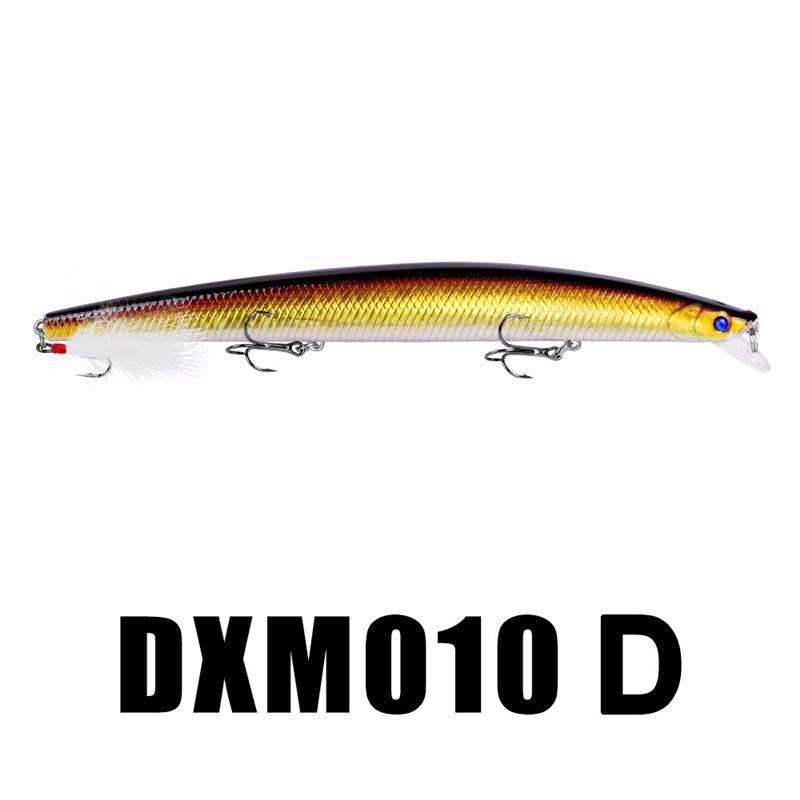 Ojos 3D Cuerpo de pescado realista Musky Cebo de pesca artificial 18.5 cm 29 g Wobbler Minnow Lápiz cebo VMC Ganchos de plumas