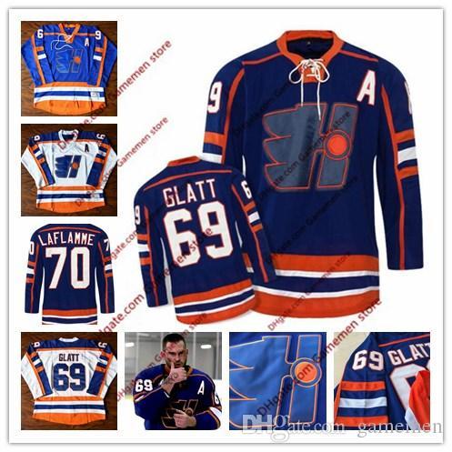 bc1f21077 2019 Doug The Thug  69 Glatt Halifax Highlanders GOON Movie Cheap Hockey  Jerseys Ice Winter Jersey 100% Stitched Adult Size 48 56 From Gamemen