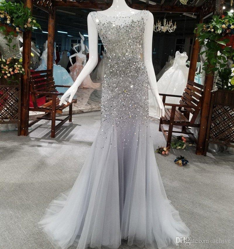 Luxury Heavy Beaded Mermaid Evening Dresses Long Backless Sleeveless Pageant Gowns for Women Custom Made Heavy Beaded Prom Dresses 2018