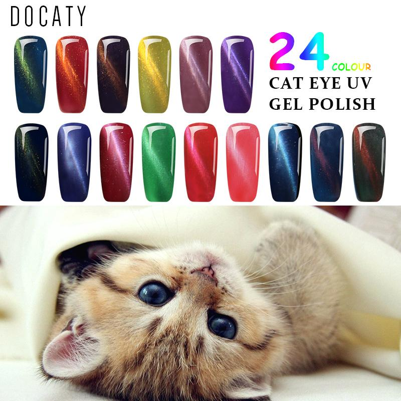 Docaty Everything for Manicure Semi Permanent Cat s Eye Gel Paint Nail  Supplies for Professionals Hybrid Varnishes Gift Set