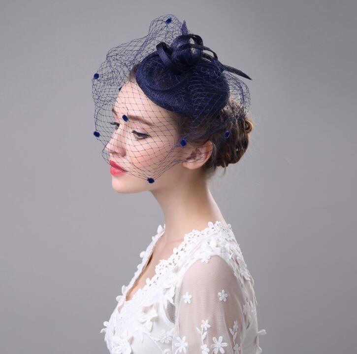 Hot Selling Bride Veil Comb Blusher Birdcage Tulle Bridal Wedding Hots Hat Dress drop ship