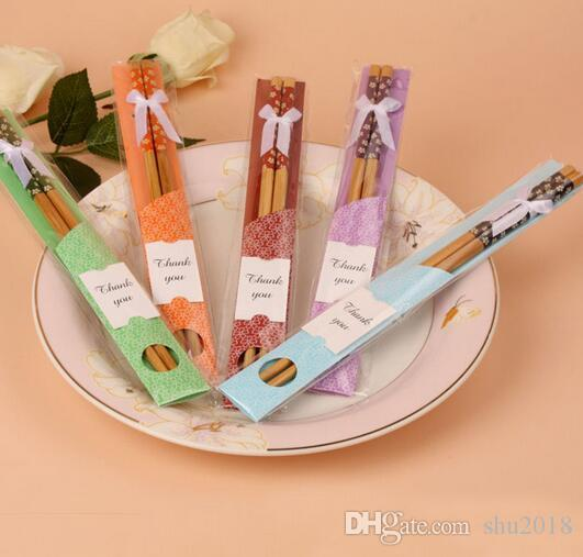 Return Gifts For Wedding Guests: Wedding Gift Souvenirs Of Natural Bamboo Chopstick Sets
