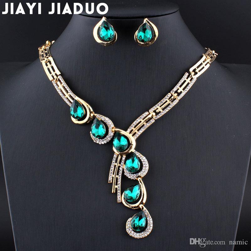 Schmuck & Zubehör Brautschmuck Sets Jiayijiaduo Hochzeit Schmuck Sets Afrikanische Perlen Silber-farbe Halskette Ohrringe Armband-sets Hochzeit Zubehör Heißer Verkauf