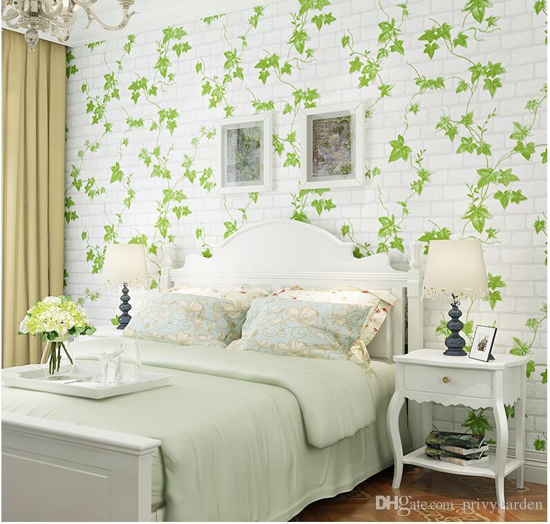 Acheter 3d Blanc Brique Brique Feuille Verte Non Tisse Papiers